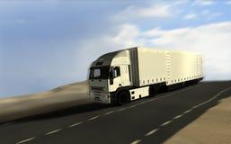 De vrachtwagenlevering van de vracht Stock Afbeeldingen