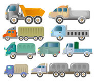 De vrachtwagenpictogram van het beeldverhaal Royalty-vrije Stock Afbeeldingen