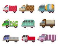 De vrachtwagenpictogram van het beeldverhaal vector illustratie