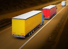 De vrachtwagens Stock Afbeelding