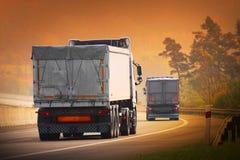 De vrachtwagens Royalty-vrije Stock Foto's