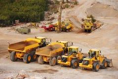 De vrachtwagens en de tractoren van de vrachtwagen Stock Afbeelding