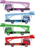 De vrachtwagens van de kleur Royalty-vrije Stock Afbeeldingen