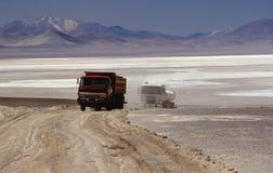 De vrachtwagens van de lading royalty-vrije stock afbeelding
