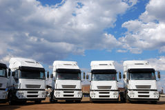 De Vrachtwagens van de lading Stock Afbeelding