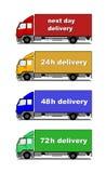 De vrachtwagens van de levering royalty-vrije illustratie