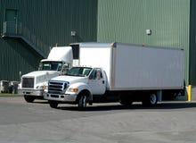 De Vrachtwagens van de levering Stock Foto's