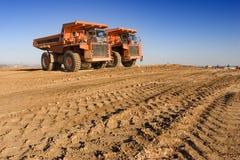 De vrachtwagens van de mijnbouw Royalty-vrije Stock Afbeeldingen