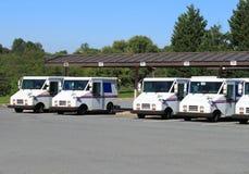 De Vrachtwagens van de post royalty-vrije stock afbeelding