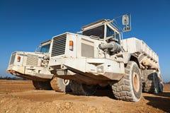 De Vrachtwagens van de stortplaats royalty-vrije stock afbeelding