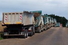 De Vrachtwagens van de stortplaats Stock Fotografie