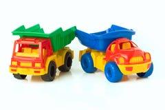 De vrachtwagens van het stuk speelgoed stock afbeelding