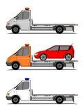 De vrachtwagensvector van het slepen vector illustratie