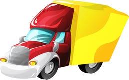 De vrachtwagenvrachtwagen van het beeldverhaal Stock Afbeeldingen