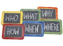 De vragen van de brainstorming Stock Afbeeldingen