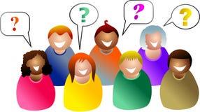 De vragen van de groep Royalty-vrije Stock Fotografie