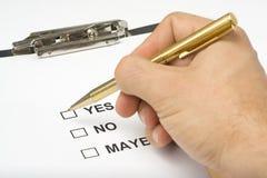 De vragenlijstkwaliteit van de controlelijst van de dienst Stock Foto