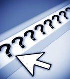 De vragenvragen van vragen royalty-vrije illustratie