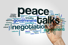 De vrede spreekt woordwolk stock fotografie