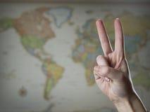 De vrede van de wereld Stock Foto