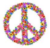 De vrede van het teken van bloemen royalty-vrije illustratie