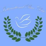 De Vredesdag van Intetrnational van het duifsymbool Royalty-vrije Stock Afbeeldingen