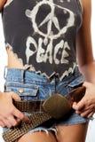 De vredesslogan van de t-shirt stock foto's