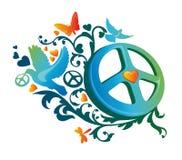 De vredessymbool van de hippie Stock Afbeelding