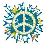 De vredessymbool van de hippie Stock Afbeeldingen