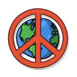 De vredessymbool van de wereld Stock Fotografie