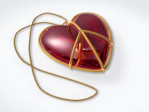 De vredesteken van de liefde als juwelengift met het knippen van weg royalty-vrije illustratie