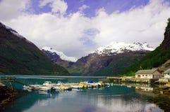 De vreedzame fjord stock afbeeldingen