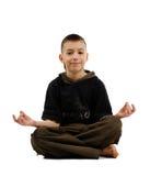 De vreedzame jongen in yoga stelt Royalty-vrije Stock Foto