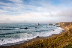 De Vreedzame kustlandschap van de V.S., Californië Stock Fotografie