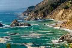 De Vreedzame kustlandschap van de V.S., Californië Royalty-vrije Stock Foto's