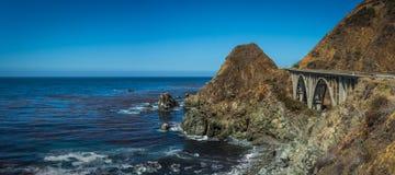 De Vreedzame Kustweg van Californië stock afbeelding