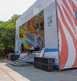 De Vreedzame Meridiaan van het festivaldorp. Stock Fotografie