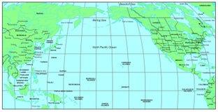 De Vreedzame Oceaan van het noorden Royalty-vrije Stock Foto's