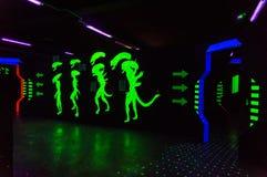 De vreemde arena van de lasermarkering Royalty-vrije Stock Foto