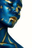 De vreemde Make-up van Meisjeshalloween royalty-vrije stock afbeeldingen
