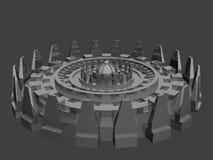 De vreemde onbekende futuristische machine van de fantasie Vector Illustratie