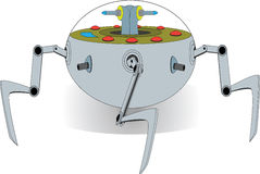 De vreemde Peul van de Spin Robotachtige Oorlog Stock Afbeeldingen