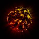 De vreemde planeet van de brand vector illustratie