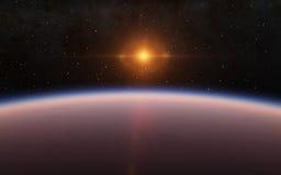 De vreemde Planeet van Woestijnexo stock illustratie