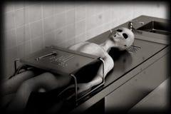 De vreemde versie van de autopsie zeer oude film royalty-vrije illustratie