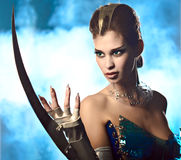 De vreemde vrouw van de schoonheid royalty-vrije stock afbeelding