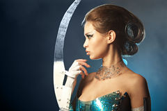 De vreemde vrouw van de schoonheid Royalty-vrije Stock Fotografie