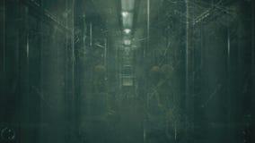 De vreemdeling gaat in de trein werken de samenvatting voorzag kosmische fantasie van een lus royalty-vrije illustratie