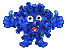 De Vreemdeling of het Monsterbeeldverhaalkarakter van virusbacteriën Stock Foto's