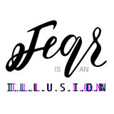 De vrees is een illusietypografie stock illustratie